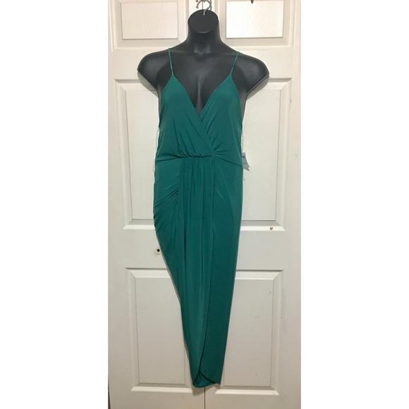 Charlotte Russe Dresses & Skirts - Charlotte Russe Wrap Slip Dress Size XL Green